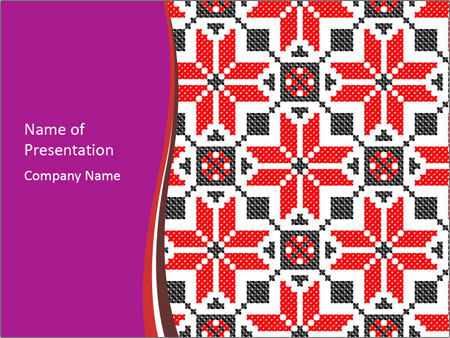Traditional ukrainian embroidery powerpoint template backgrounds traditional ukrainian embroidery powerpoint template toneelgroepblik Images