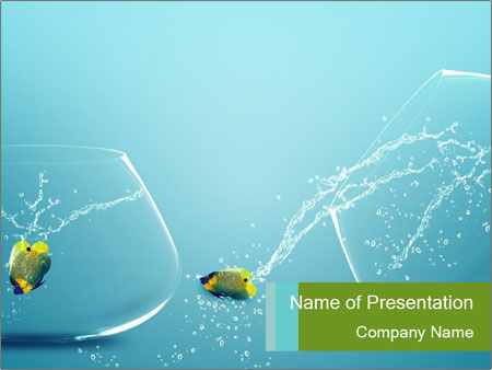 crazy fish powerpoint template & backgrounds id 0000065380, Modern powerpoint