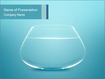 Aquarium Filled with Water PowerPoint Template