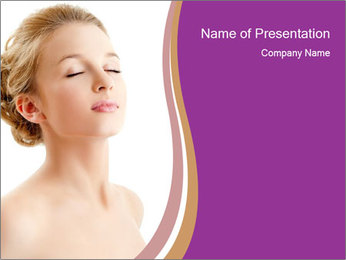 Lady with Perfect Health PowerPoint Template
