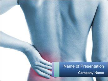Man Has Pain in Lower Back PowerPoint Template
