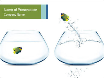 Aquarium with Angelfish PowerPoint Template