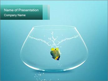 Yellow Fish Inside Aquarium PowerPoint Template