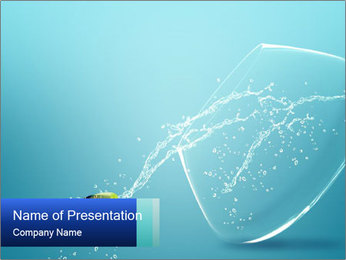 Fish Jumping from an Aquarium PowerPoint Template