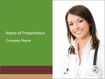 Woman Works in Medicine PowerPoint Template