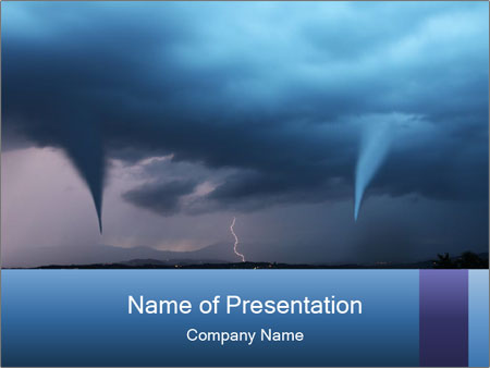 tornado warning powerpoint template & backgrounds id 0000065634, Modern powerpoint