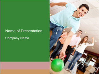 Bowling Club PowerPoint Template