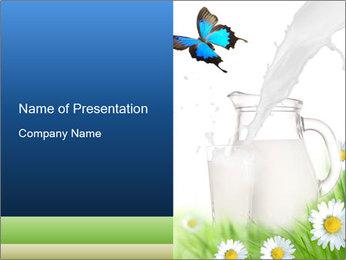 Fresh Cow Milk PowerPoint Template
