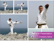 Karate powerpoint template smiletemplates karate collage powerpoint template toneelgroepblik Gallery