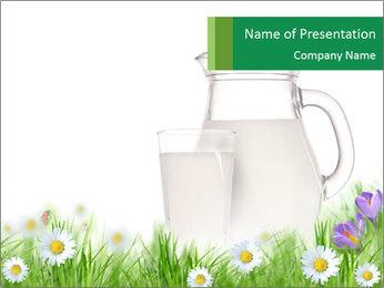 Village Milk in Jar PowerPoint Template