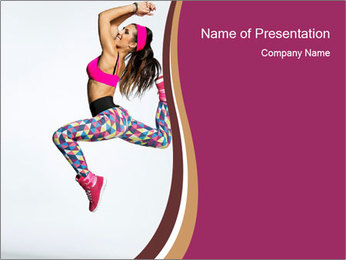 Moving Gymnast Girl PowerPoint Template