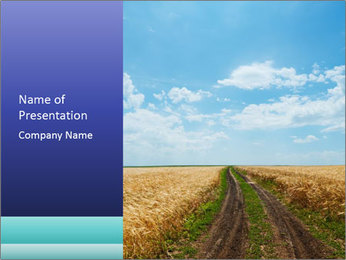 Empty Rural Road PowerPoint Template