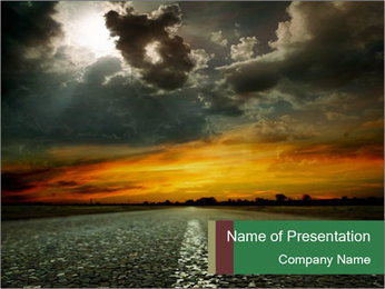 Road in Darkness PowerPoint Template