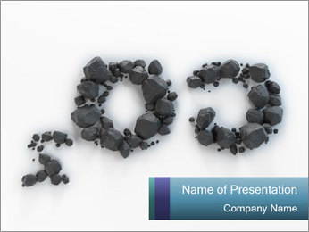 Coal Symbol CO2 PowerPoint Template