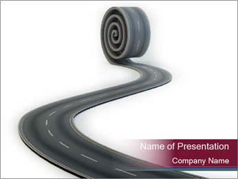 3D Road Roller PowerPoint Template