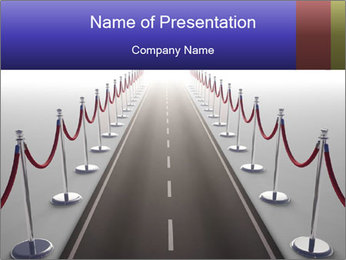 Endless VIP Road PowerPoint Template