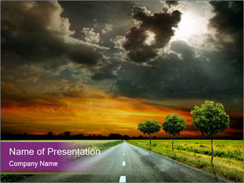 Road and Horizon PowerPoint Template
