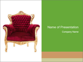 Luxurious Red Armchair PowerPoint Template
