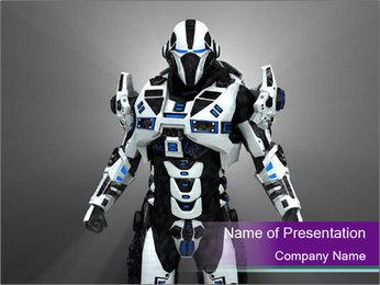 Cyborg Warrior PowerPoint Template