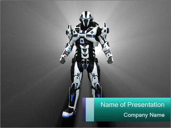 Powerful Robot Warrior PowerPoint Template