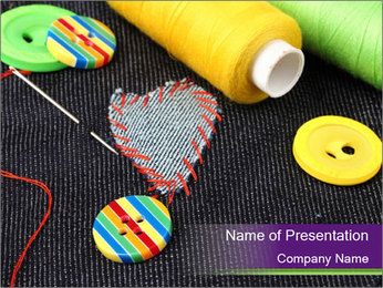 Heart Shaped Patch PowerPoint Template