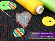 Heart Shaped Patch PowerPoint Templates