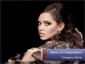 Evening Woman's Look PowerPoint Template