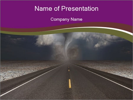 tornado is behind powerpoint template & backgrounds id 0000066731, Modern powerpoint