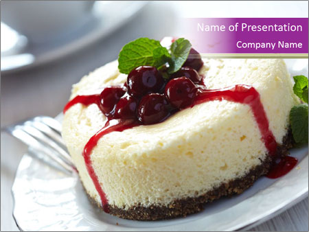 cheese cake dessert powerpoint template amp backgrounds id