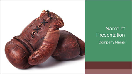 old boxing gloves powerpoint template backgrounds google slides