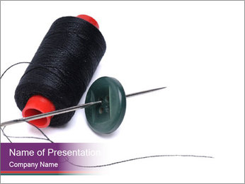 Creative Sewing Activity PowerPoint Template