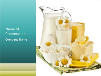 Dairy Products from the Village PowerPoint Template