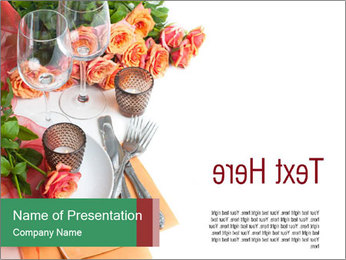 Roses for Table Decoration PowerPoint Template