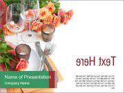 Roses for Table Decoration PowerPoint Templates