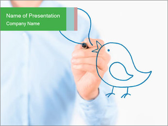 Social Network Communication PowerPoint Template