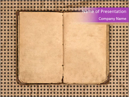 old diary powerpoint template & backgrounds id 0000067448, Modern powerpoint