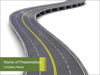 3D Road Modelos de apresentações PowerPoint