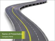 3D Road PowerPoint Templates