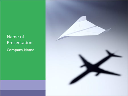 Paper Airplane Powerpoint Template Smiletemplates Com