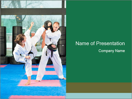 martial arts training powerpoint template & backgrounds id, Presentation templates