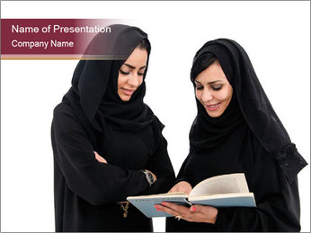 Education for Muslim Women PowerPoint Template