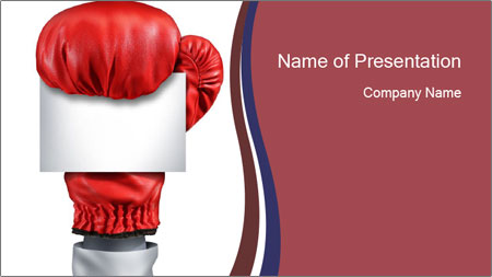 boxing glove and white card powerpoint template backgrounds