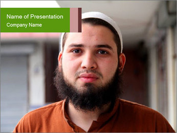 Arabian Man with Beard PowerPoint Template