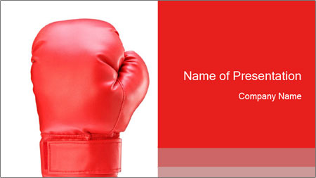single boxing glove powerpoint template backgrounds google slides