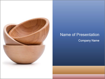 Wooden Bowls PowerPoint Template
