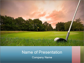 Play Golf in the Evening PowerPoint Template