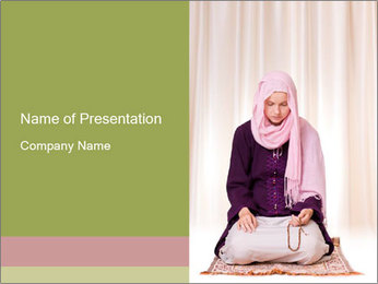 Muslim Woman Praying PowerPoint Template