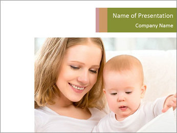 Mother and Baby at Home PowerPoint Template