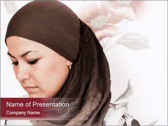 Religious Muslim Woman PowerPoint Template