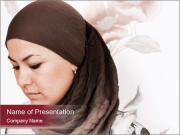 Religious Muslim Woman PowerPoint Templates